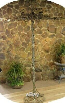 100 Tall Antique Iron Rose Tree Decor Great 4 Hanging Decorations Wind Chimes