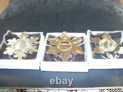 10 Gorham Sterling Snowflake Christmas Ornaments 1970 thru 1979