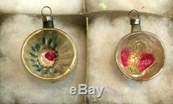 12 Antique Mercury Glass Silver Feather Tree Figural Christmas Ornament 2 tall