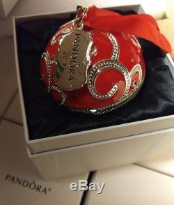 12 Authentic Pandora Jewelry Red Christmas Spectacular Rockettes Ornaments Nib