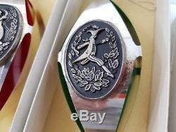 12 Days Of Christmas Sterling International Silver Vintage Ribbon Ornaments -1