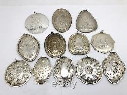 12 Rare Towle 12 Days of Christmas Large Sterling Silver Ornament Set