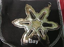 13 GORHAM STERLING SILVER Snowflake Christmas Ornaments Various Dates 1971-1991
