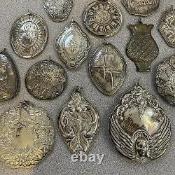 14 Piece Sterling Silver Christmas Ornaments