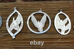 1971-1978 Complete Wallace Sterling Silver Peace On Earth Christmas Ornament Set
