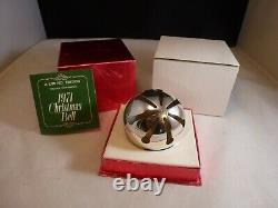 1971 1st Ed Wallace Silver Plated Sleigh Bell Christmas Ornament Original Box