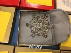 1971-2020 Vintage Sterling Silver MMA Museum Art Snowflake Christmas Ornaments