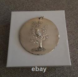 1971 Towle Partridge in a Pear Tree Sterling Silver Ornament
