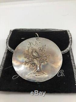 1971 Towle Sterling Silver Christmas Ornament Charm Partridge in a Pear 1st VTG