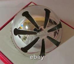 1971 Wallace Silver Plated Sleigh Bell Christmas Ornament Nice! 1st in Series