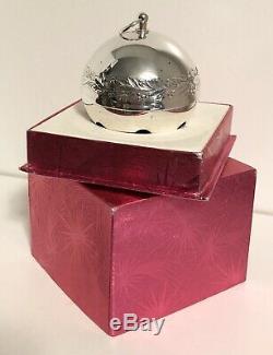 1971-Wallace Silversmith-Sleigh Bell Christmas Ornament-Ltd Ed- Silver Plate