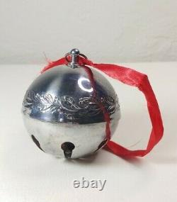 1971 Wallace sleigh Bell Christmas Ornament Rare NICE