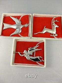 1972-1998 American Heritage Sterling Christmas Ornament Collection Complete RARE