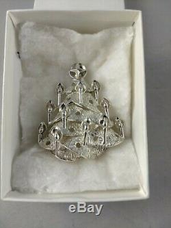1972 Lincoln Mint Christmas Tree Sterling Silver Ornament. New, Unused, Mint