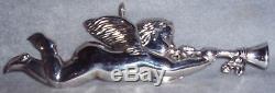 1972 Stieff Smithsonian Series Sterling Silver Gabriel Angel Ornament Pendant