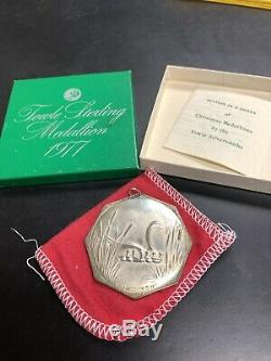 1973-1977 Towle 12 Day Christmas Annual Sterling Silver Ornament Medallions