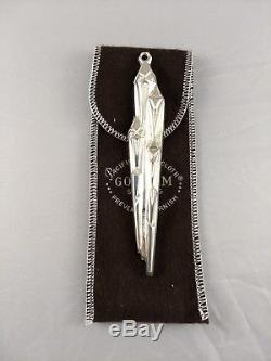 1973 Gorham Icicle Sterling Silver Christmas Ornament New, Used with Bag RARE