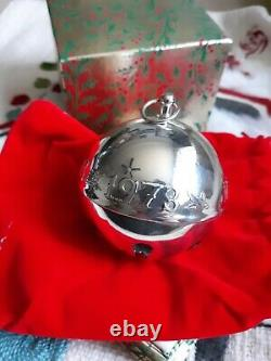 1973 Wallace Silver Plate Bell Ornament