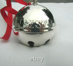 1973 Wallace Silversmith 3rd Annual Silver Plate Sleigh Bell Ornament
