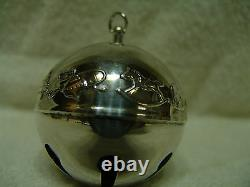 1974 Wallace Silver Plate Sleigh Bell Ornament