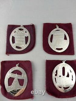1976-79 Lunt Complete Music Series Sterling Christmas Ornaments Excellent withbags