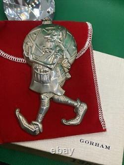 1977 GORHAM Santa's Elf Sterling Silver Christmas Ornament #1352