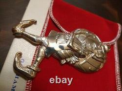 1977 Gorham sterling Silver Santa's Helper Elf Ornament Judy Lee # 1352 NEW