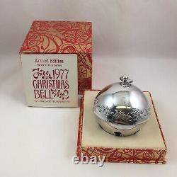 1977 Wallace Silver Plate Sleigh Bell Christmas Ornament with Original Box & Paper