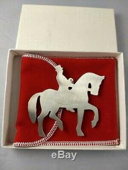 1979 American Heritage Man on Horseback Sterling Silver Christmas Ornament NEW