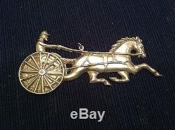1980 Sterling Silver Gorham American Heritage Horse And Sulky Ornament With Box