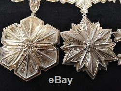 1981-1997 Gorham Sterling Silver Snowflake Year Set (Missing 2 Years)