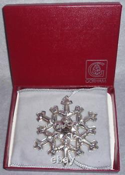 1981 Gorham Sterling Silver Gold Year Christmas Snowflake Ornament Pendant MIB