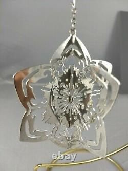 1981 Halls Sterling Silver Snowflake Christmas Ornament, Excellent