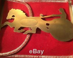 1981 Sterling Silver Gorham American Heritage Horse And Sulky Ornament w Pouch A