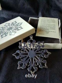 1982 Mma Sterling Silver Snowflake Christmas Ornament