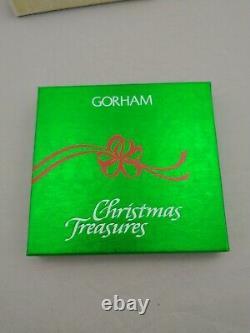 1984 Gorham Schooner Sterling Silver Christmas Ornament RARE! New withbox and bag