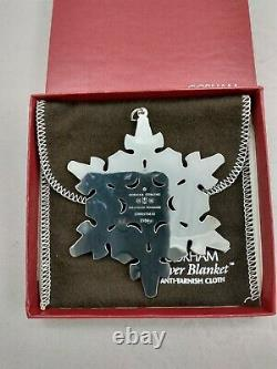 1984 Gorham Sterling Christmas Snowflake Ornament EXCELLENT withbox & bag