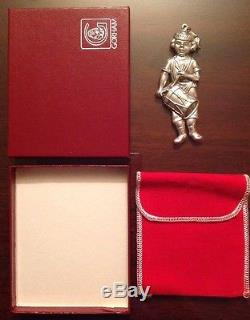 1984 Sterling Silver Gorham American Heritage Drummer Boy Ornament, Box & Pouch