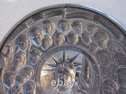 1986 F. Kreitchet Sterling Silver Christmas Ornament 100 Years Statue Liberty