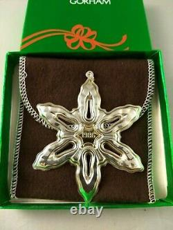 1986 Gorham Sterling Christmas Snowflake Ornament New, Unused, withbox & bag
