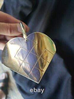 1986 Tiffany sterling Silver Christmas Ornament heart basket Extremely rare