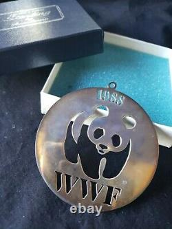 1988 Sterling silver Christmas Ornament World Wildlife Fund Extremely rare