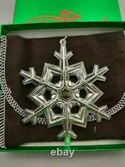 1989 Gorham Sterling Christmas Snowflake Ornament New, Unused, MINT withbox & bag