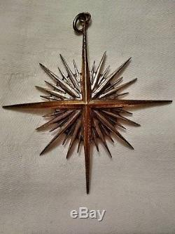 1990 Buccellati Sterling Silver Christmas Ornament Xenith Star #165 of 750 3.5