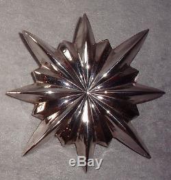 1991 KIRK STIEFF Williamsburg Silver Christmas Tree Star Top Topper Ornament