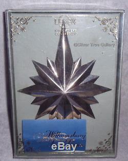 1992 KIRK STIEFF Williamsburg Silver Christmas Tree Star Top Topper Ornament