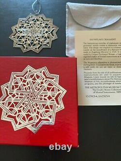 1992 MMA Metropolitan Museum of Art Sterling Silver Snowflake Ornament