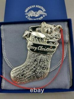 1994 American Heritage Sterling Silver Stocking Christmas Ornament New Mint