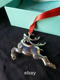 1994 Tiffany sterling Silver Christmas Ornament Reindeer Extremely Rare