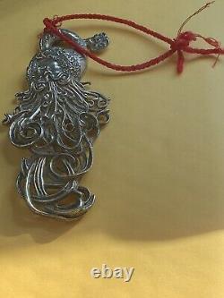 1997 Christopher Radko Sterling Silver Christmas Ornament Winter Spirit